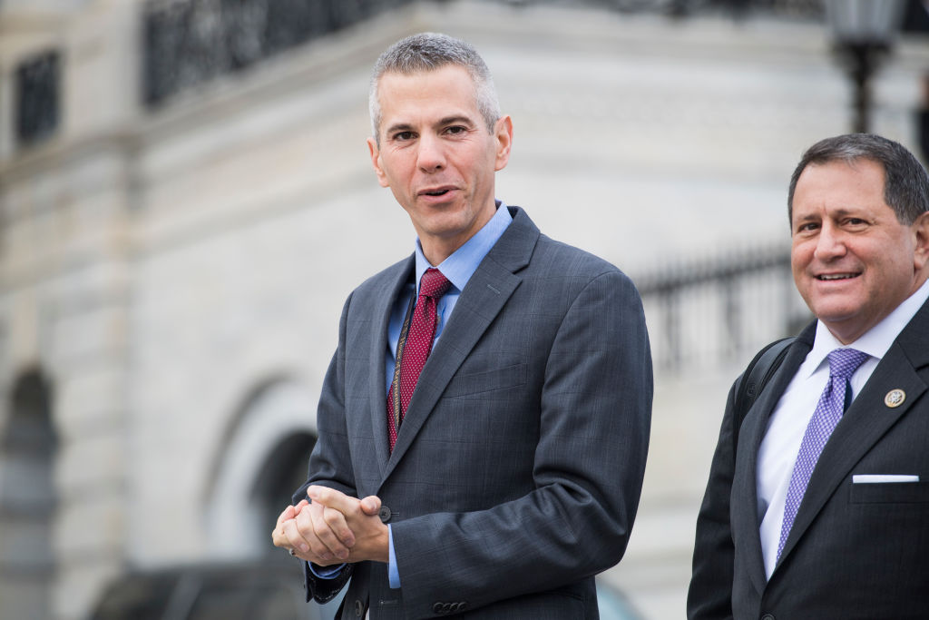 Rep.-elect Anthony Brindisi, D-N.Y., left, and Rep. Joe Morelle, D-N.Y., are seen before the freshman class photo on the East Front of the Capitol on November 14, 2018.