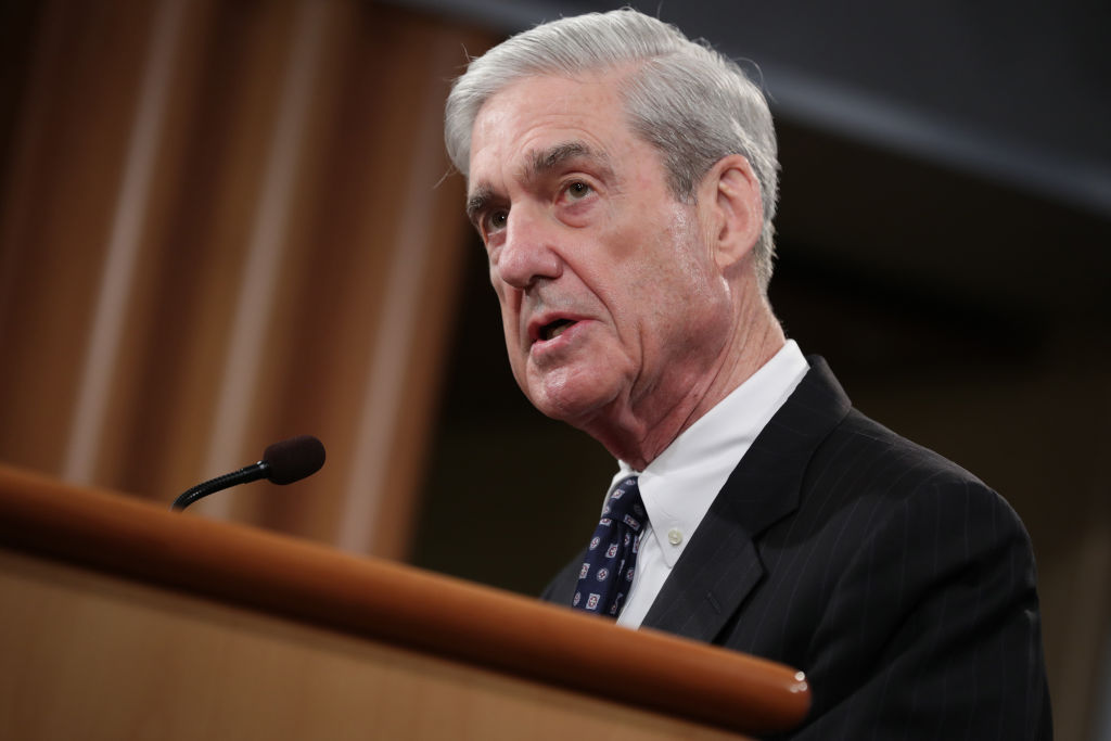 WASHINGTON, DC - MAY 29: Special Counsel Robert Mueller makes a statement about the Russia investigation at the Justice Department in Washington, D.C., on May 29, 2019.