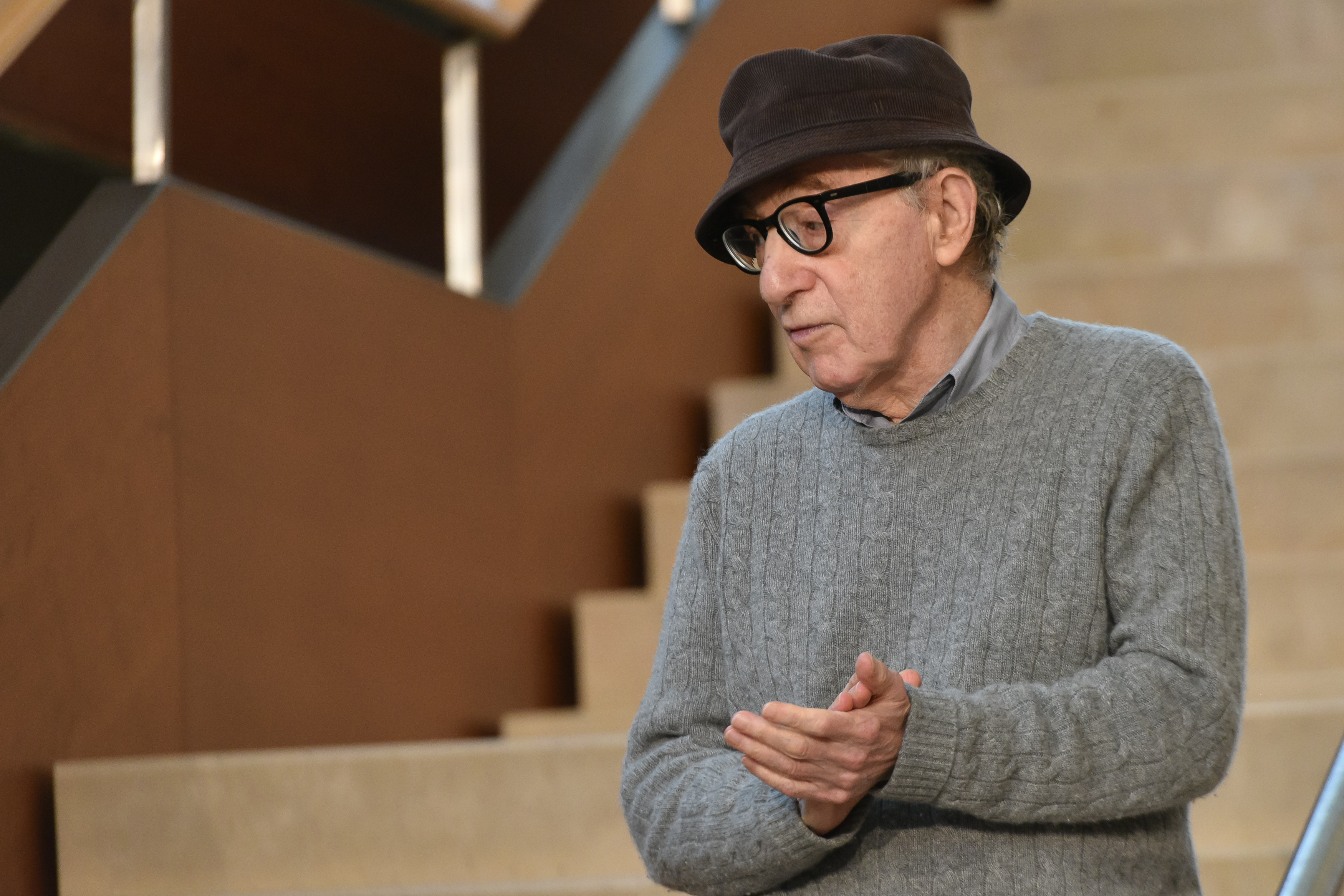 SAN SEBASTIÁN - JULY 09: Director Woody Allen starts filming a new movie in San Sebastián on July 09, 2019 in San Sebastián, Spain. (Photo by UNANUE/Europa Press via Getty Images) (Photo by Europa Press News/Europa Press via Getty Images )