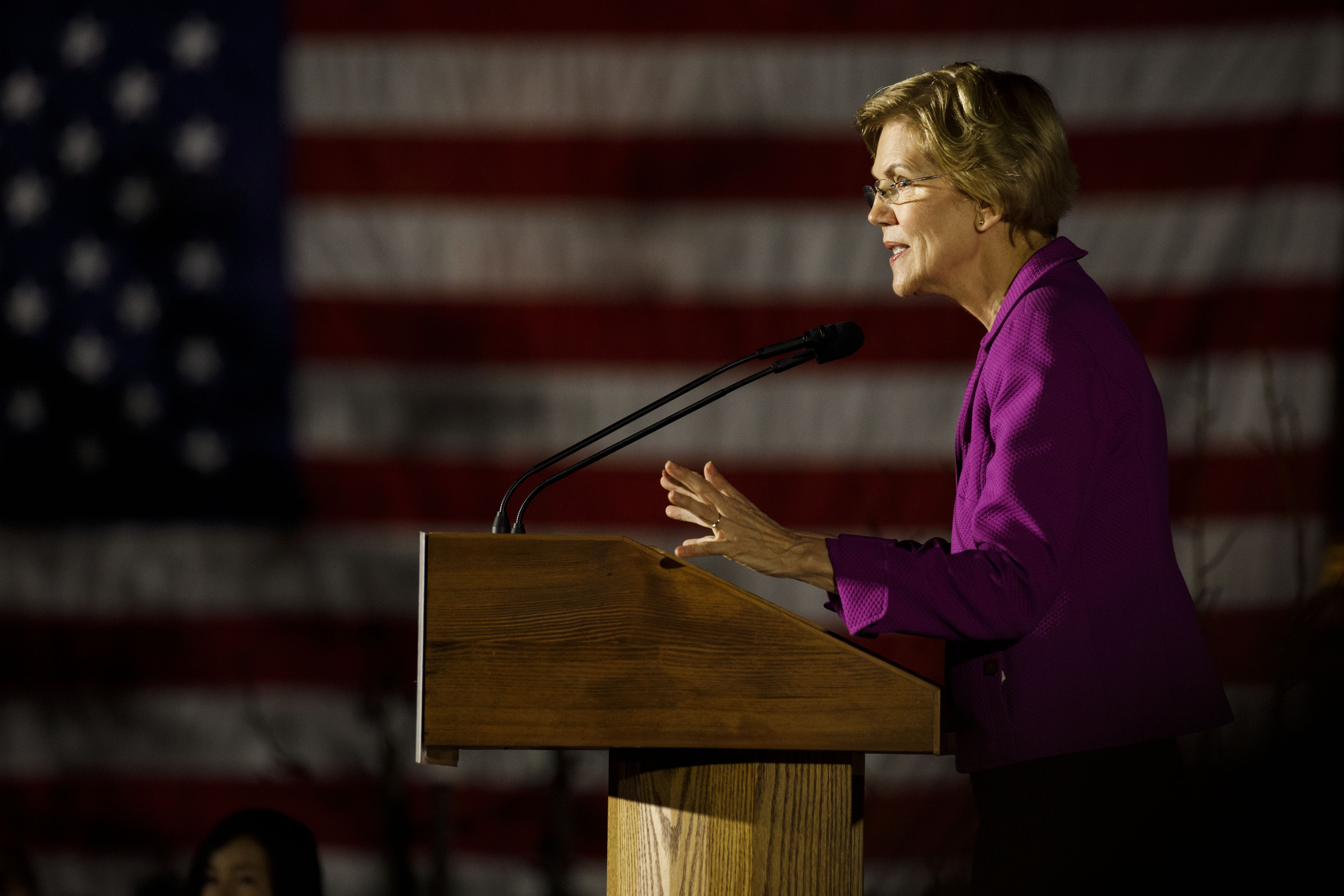 Sen. Elizabeth Warren during a campaign event at East Los Angeles Community College in Monterey Park, Calif., on March 2, 2020.