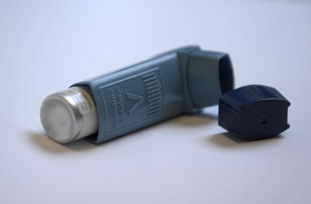 A Ventolin Evohaler inhaler.