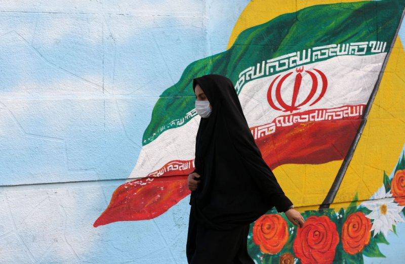 A woman wears a medical mask as a precaution against coronavirus (COVID-19) on March 01, 2020 in Tehran, Iran.