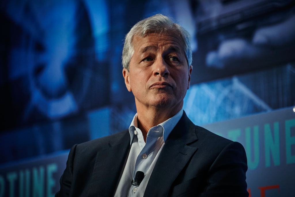 Jamie Dimon, chairman and chief executive officer of JPMorgan Chase & Co speaks on Sept. 25, 2019 in New York.