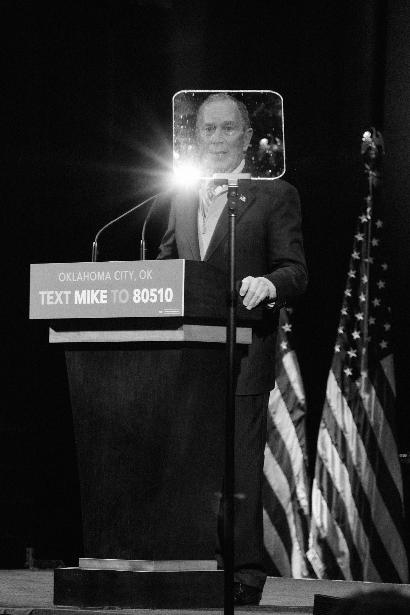 Bloomberg speaks at a rally in Oklahoma City on Feb. 27.