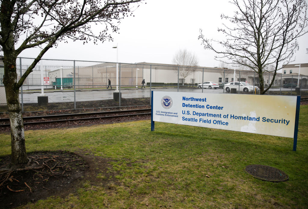 The U.S. Department of Homeland Security Northwest Detention Center is pictured in Tacoma, Washington on February 26, 2017.