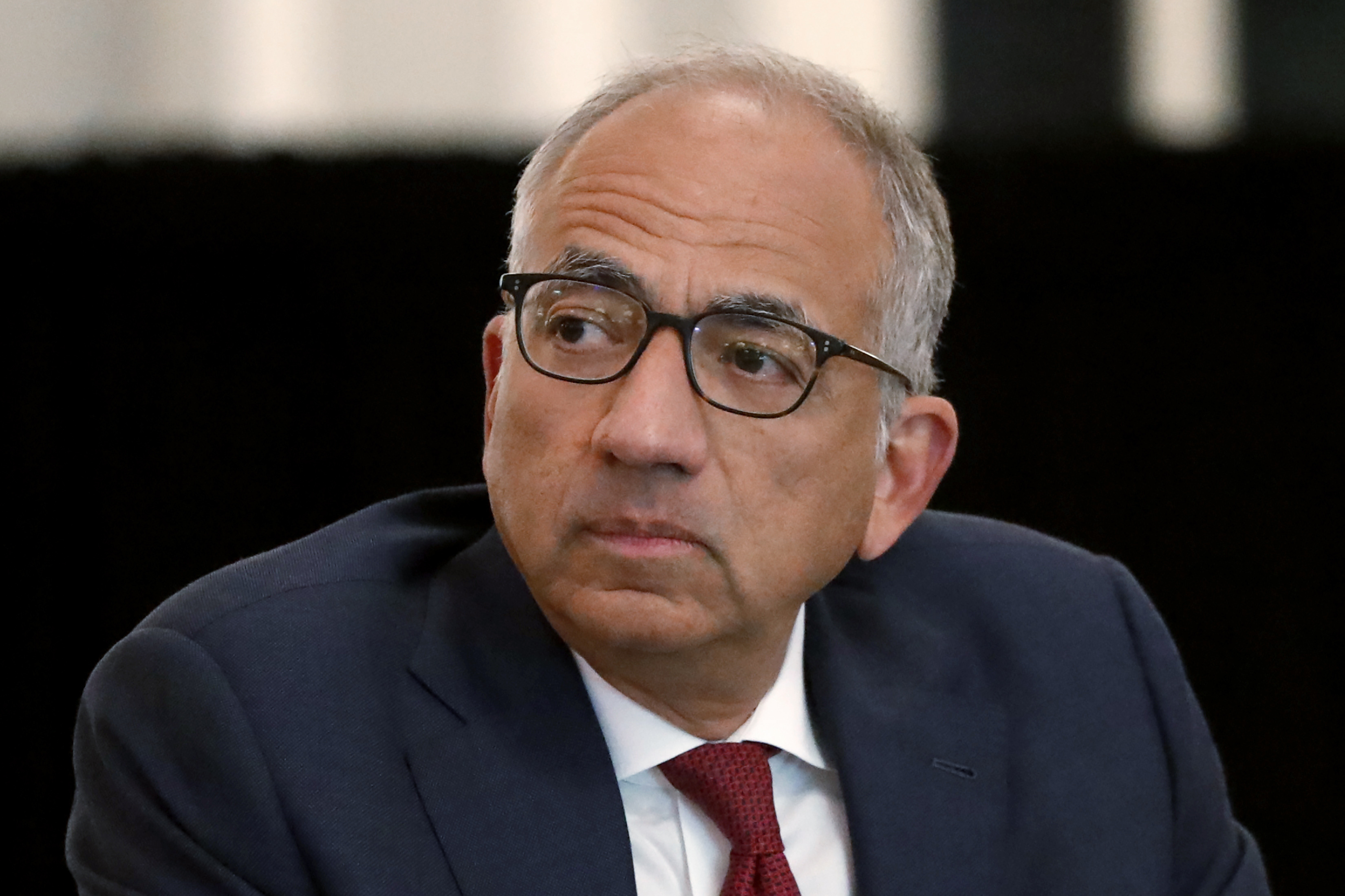 U.S. Soccer President Carlos Cordeiro presides over a meeting of the U.S. Soccer Board of Directors in Chicago on Dec. 6, 2019.