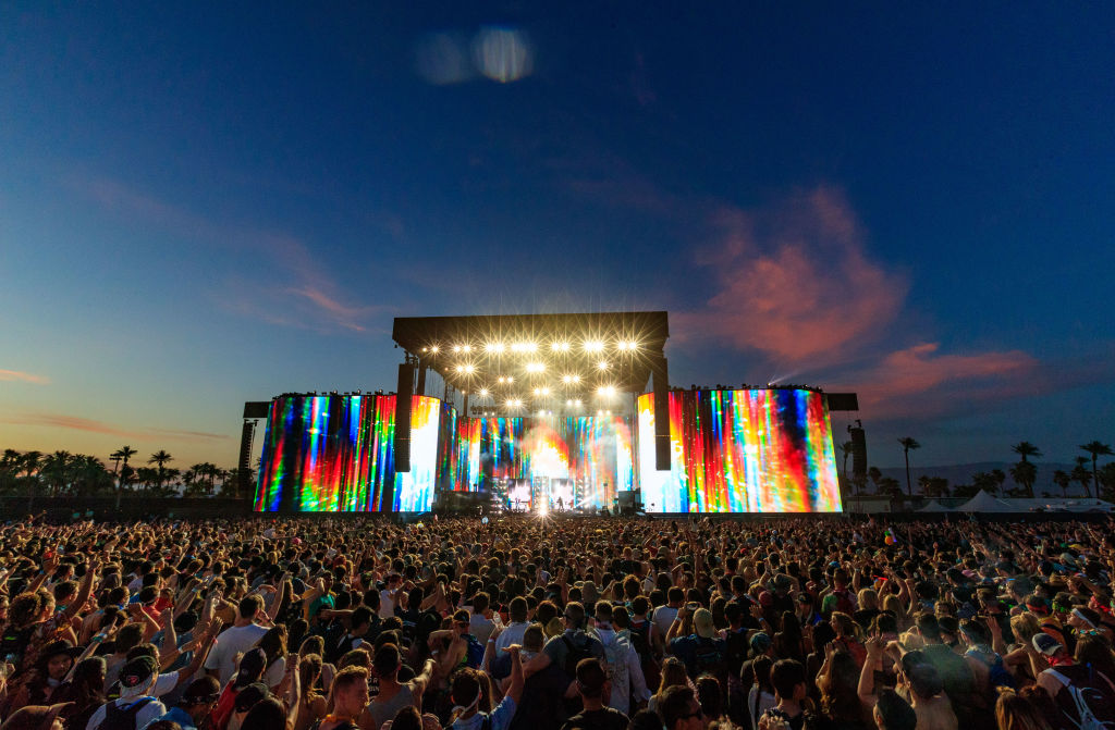 The Coachella Valley Music and Arts Festival organizers are aiming to delay the event in California after the confirmation of a coronavirus case prompted local health officials to declare a state of emergency. Pictured, the festival in 2017.