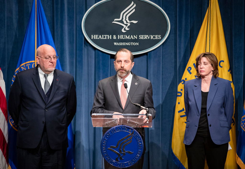Health and Human Services Secretary Alex Azar speaks during a press conference on the coordinated public health response to the 2019 coronavirus (2019-nCoV) on January 28, 2020 in Washington, D.C.