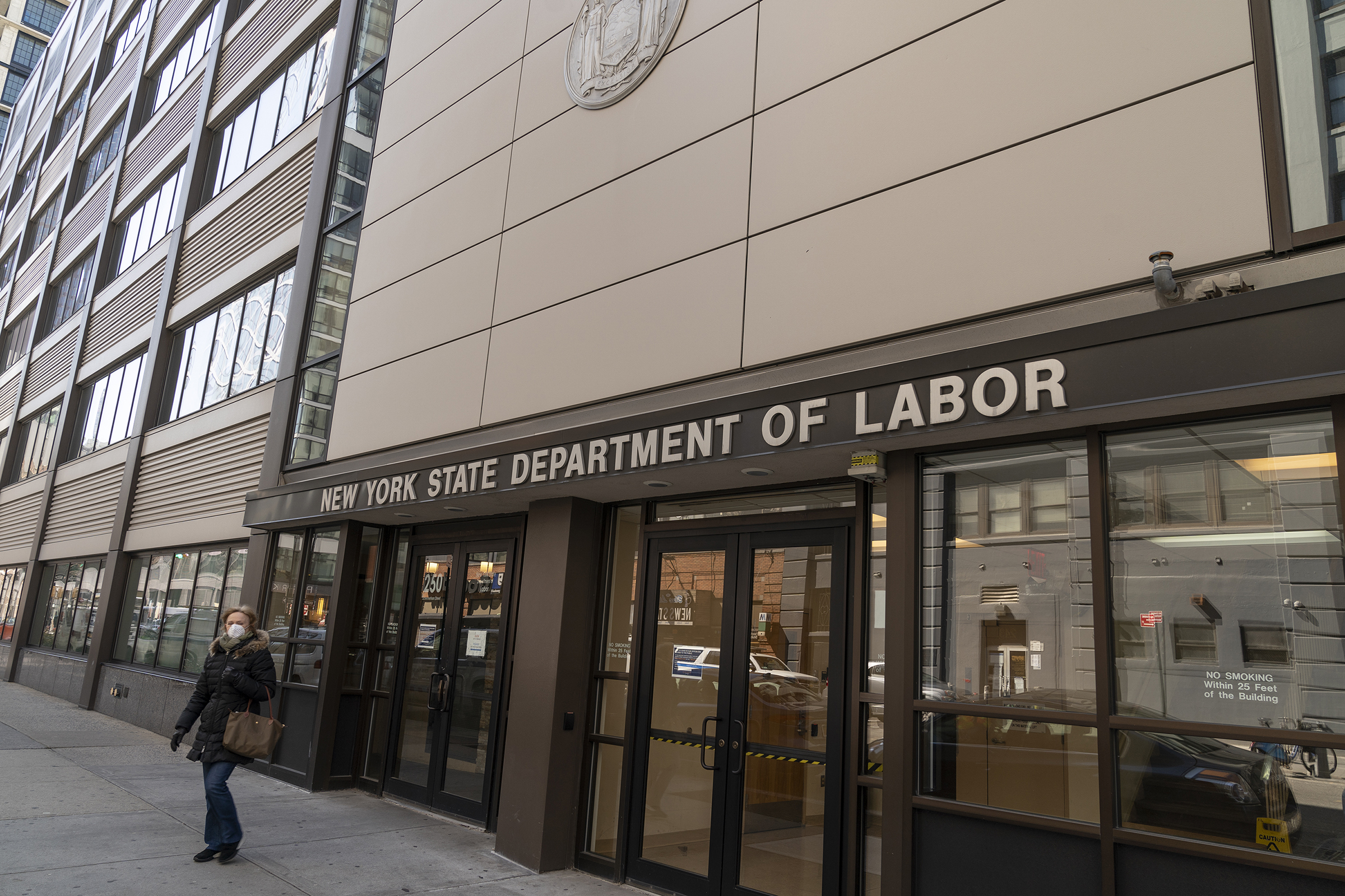 Brooklyn office of the NYS Department of Labor, seen on March 26, 2020.
