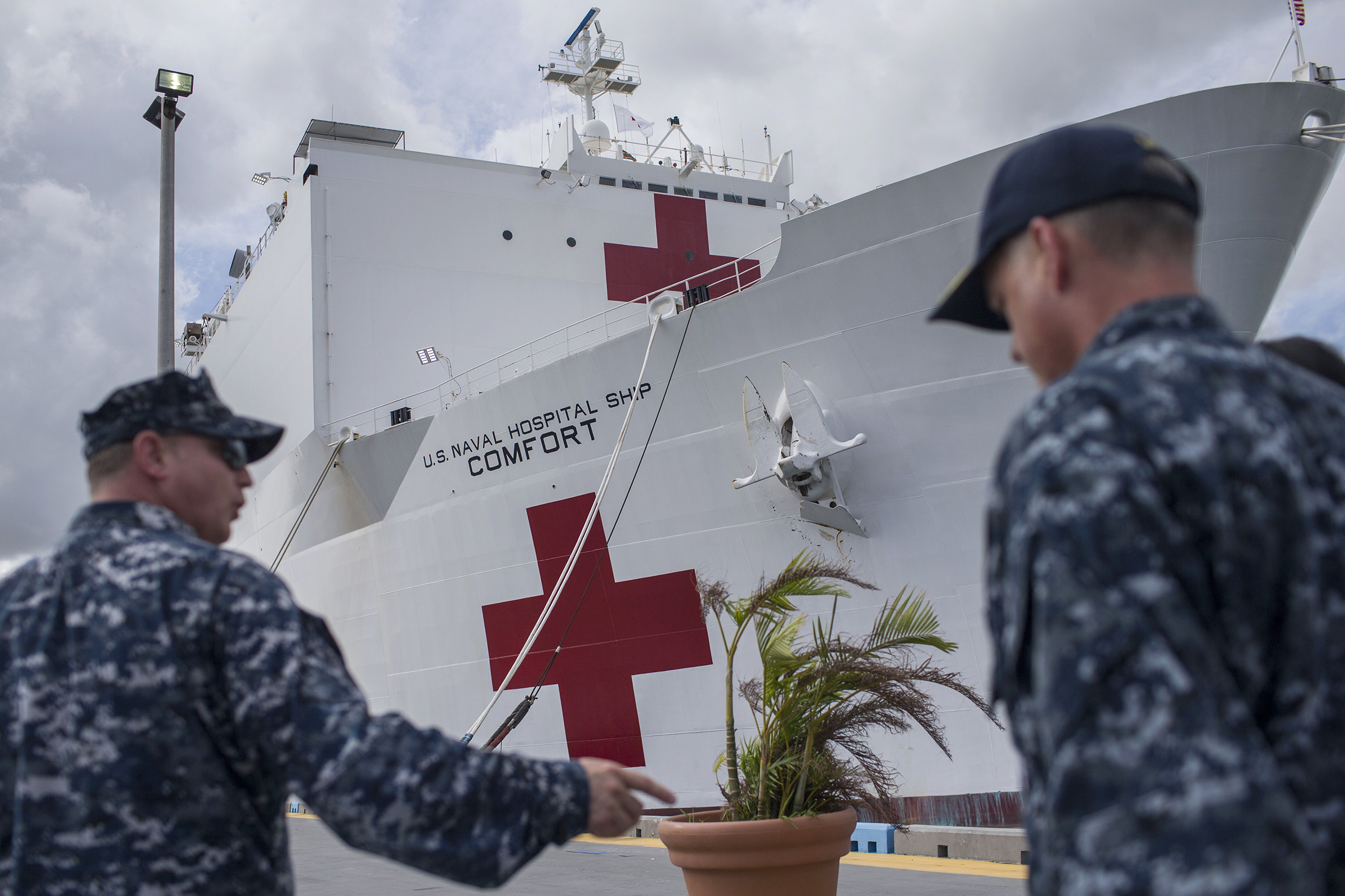 The USNS Comfort in San Juan, Puerto Rico, on Nov. 10, 2017