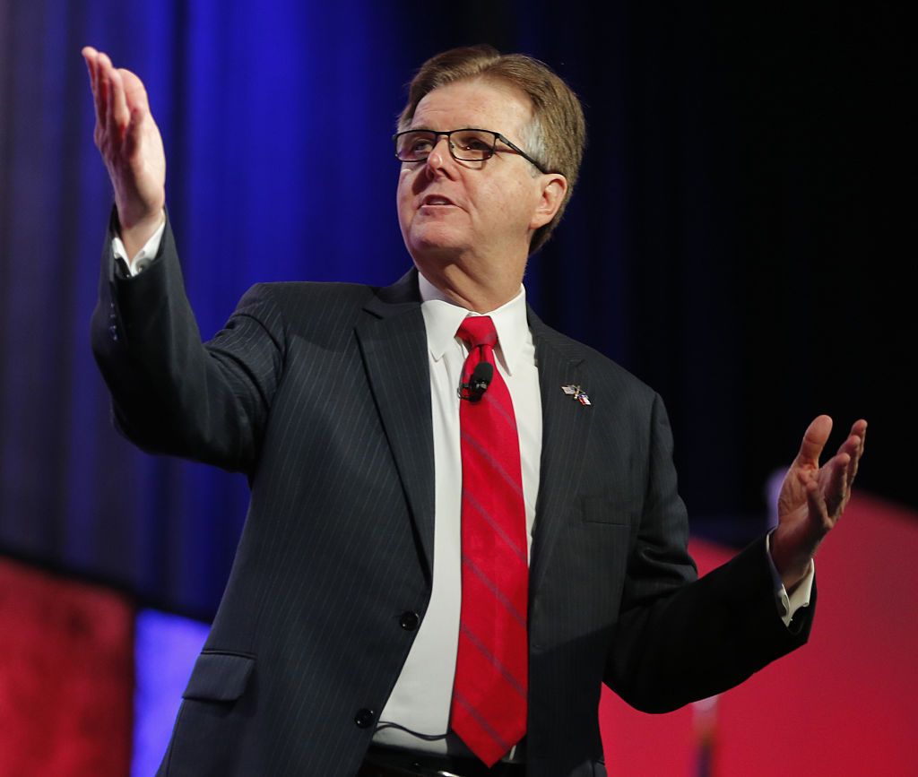 Texas Lt. Gov. Dan Patrick speaks at the Republican Party of Texas State Convention at the Kay Bailey Hutchison Convention Center, Thursday, May 12, 2016 in Dallas.