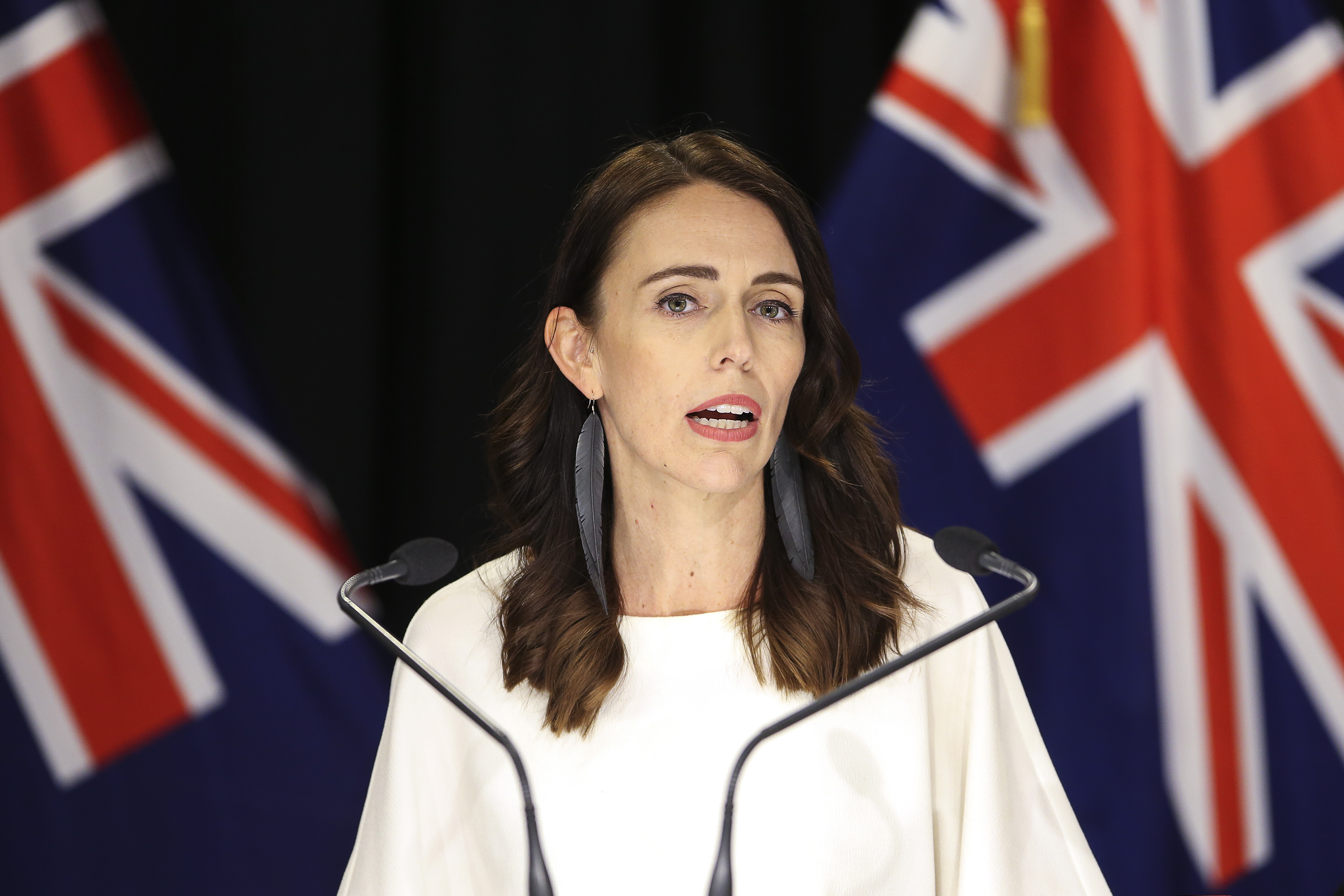 Prime Minister Jacinda Ardern speaks during a press conference on March 09, 2020 in Wellington, New Zealand.