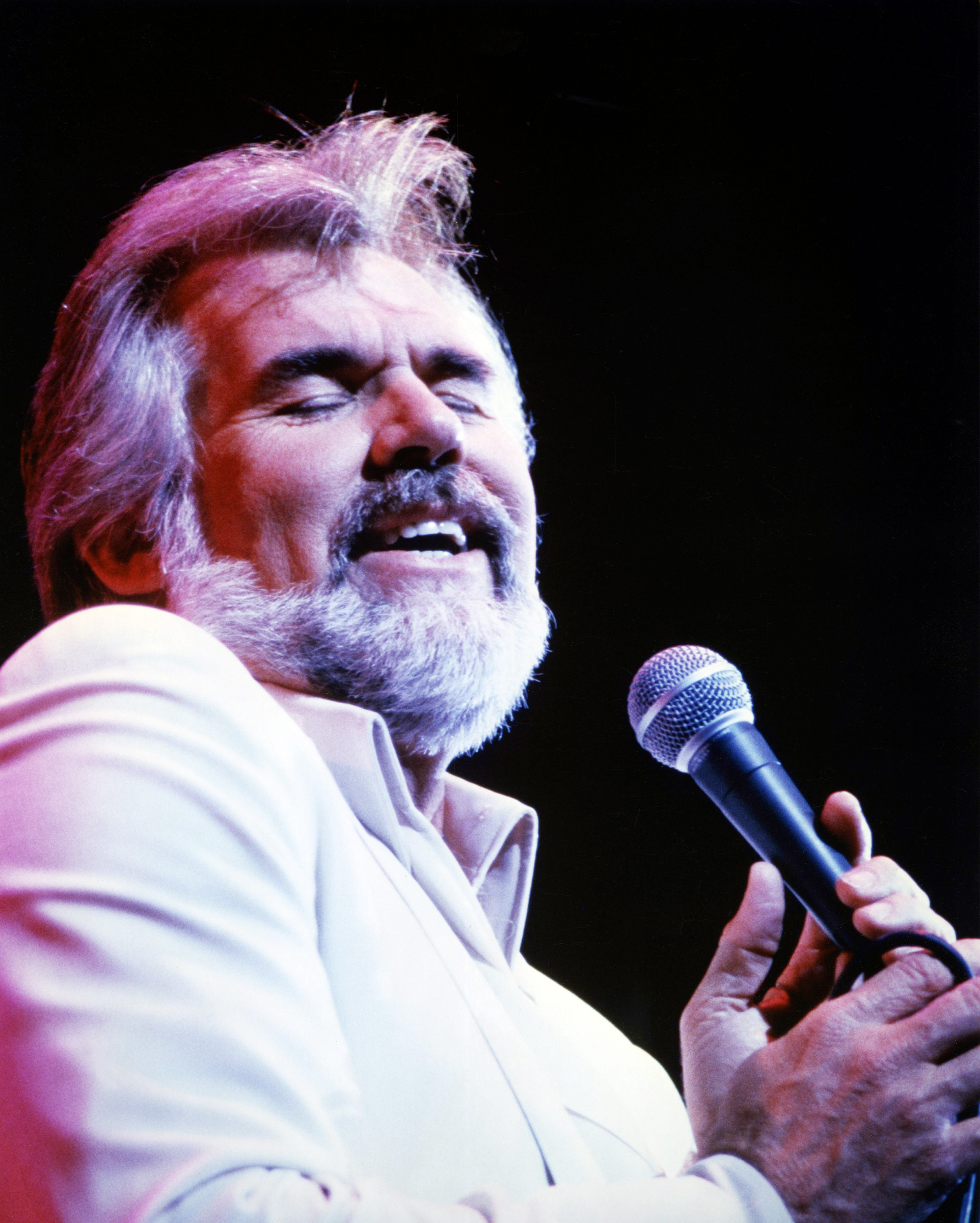 Rogers, who was inducted into the Country Music Hall of Fame in 2013, singing circa1980