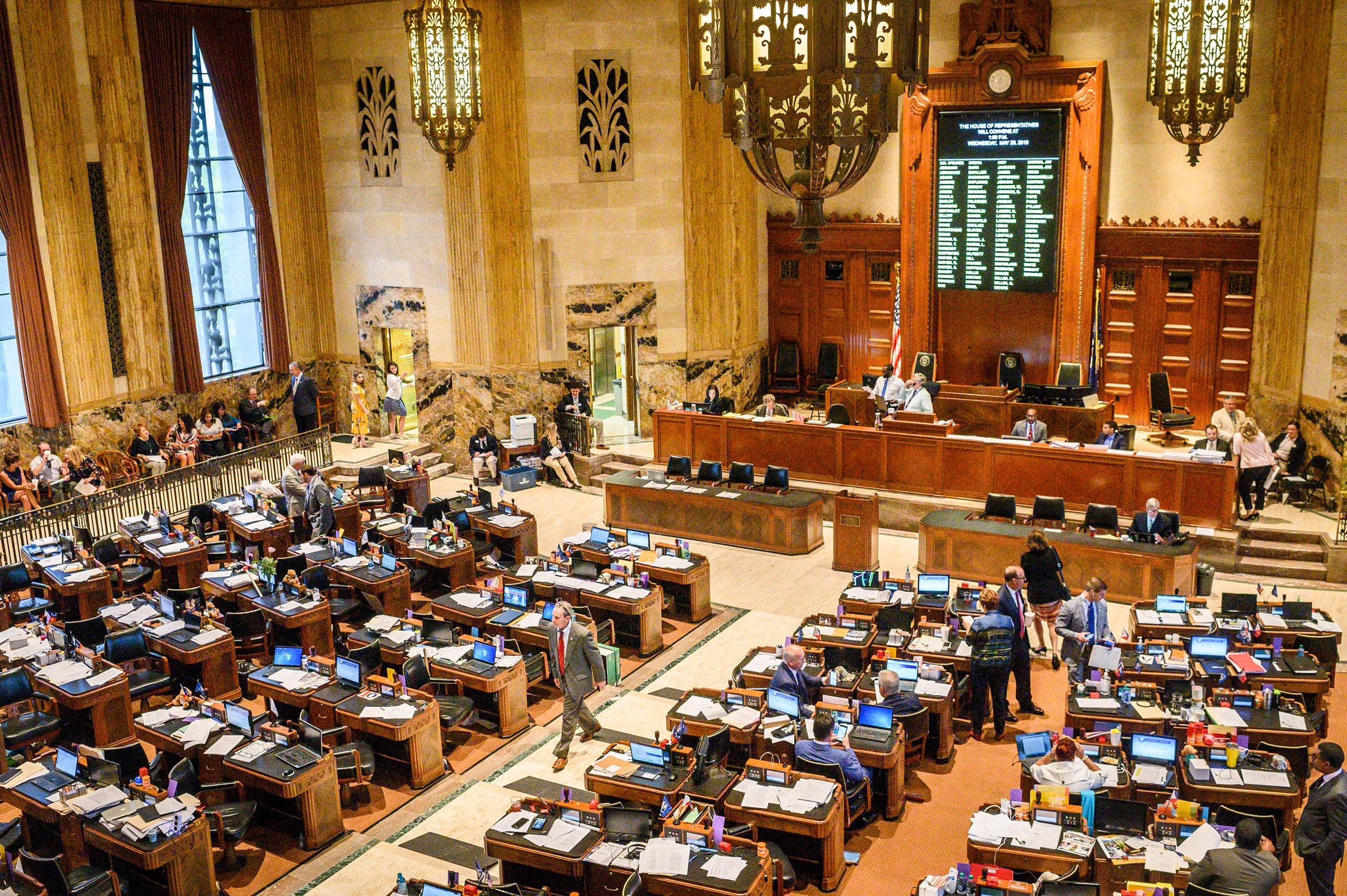 Inside the House of Representatives at the Louisiana State Capitol in Baton Rouge, May 29, 2019. Louisiana lawmakers voted to ban the procedure once the pulsing of what will become the fetus's heart could be detected.