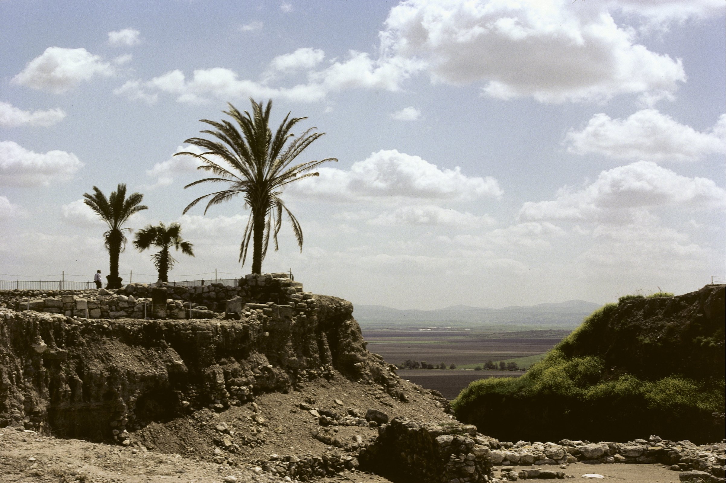 Tel Megiddo and the Valley of Jezreel, Israel. Photographed ca. 1990.