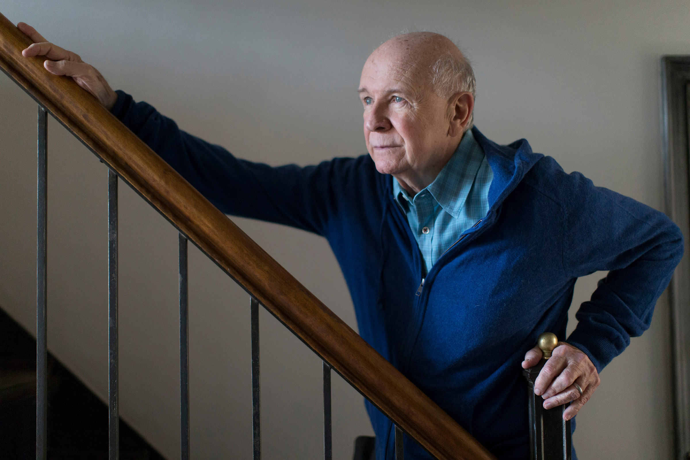 Terrence McNally at his home in New York, Feb. 14, 2014.
