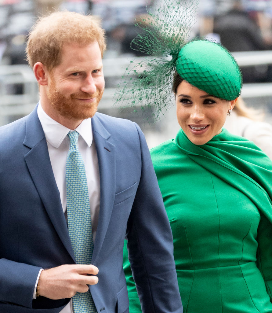 Prince Harry, Duke of Sussex and Meghan, Duchess of Sussex, attend the Commonwealth Day Service 2020 at Westminster Abbey in London, England on March 9, 2020.