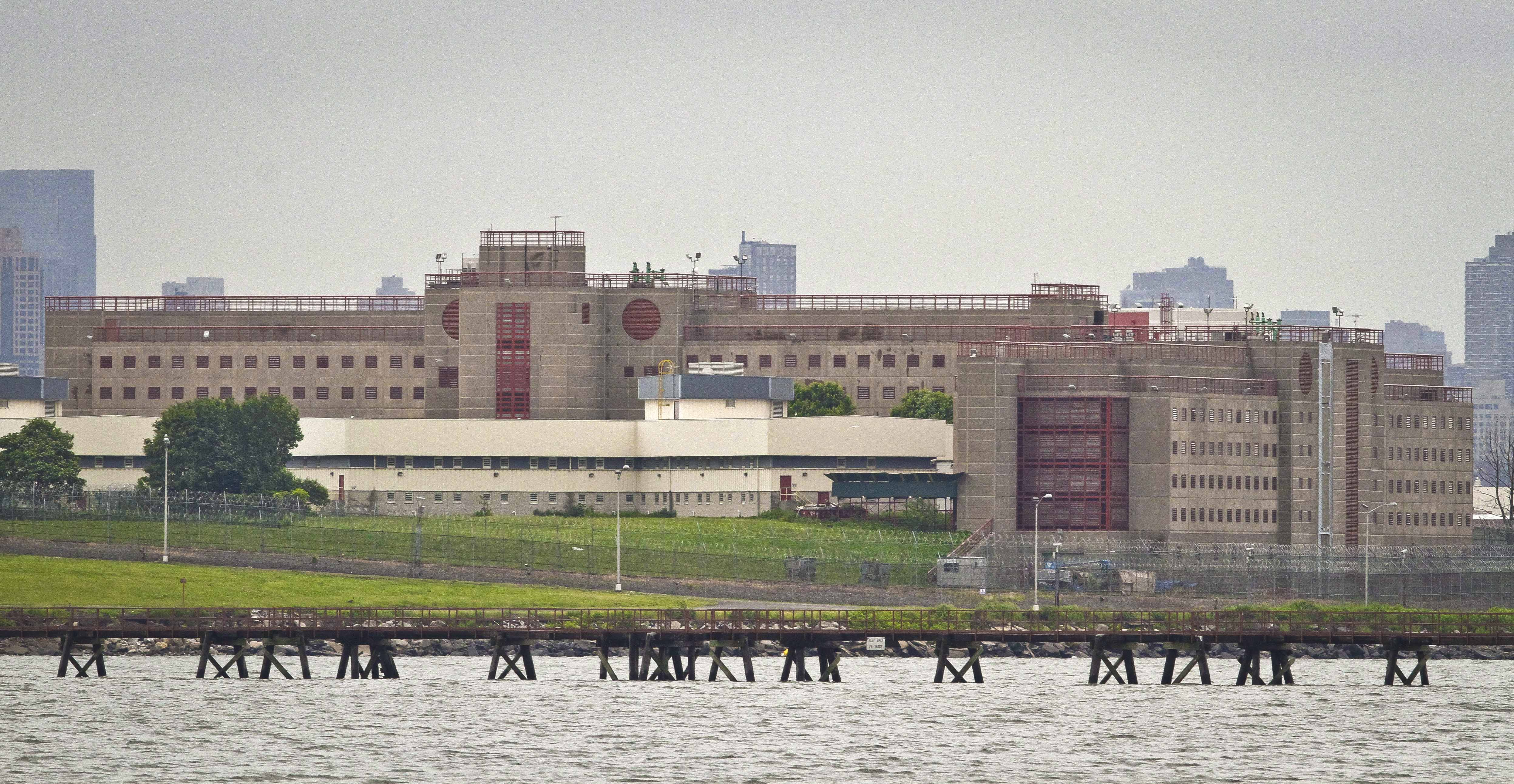 This June 11, 2014 file photo shows the eastern section of the Rikers Island jail complex in New York.