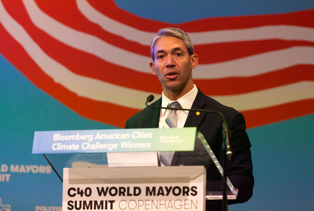 Ron Nirenberg, Mayor of San Antonio, speaks during the American Cities Climate Challenge conference at the C40 World Mayors Summit on Oct. 10, 2019 in Copenhagen, Denmark.