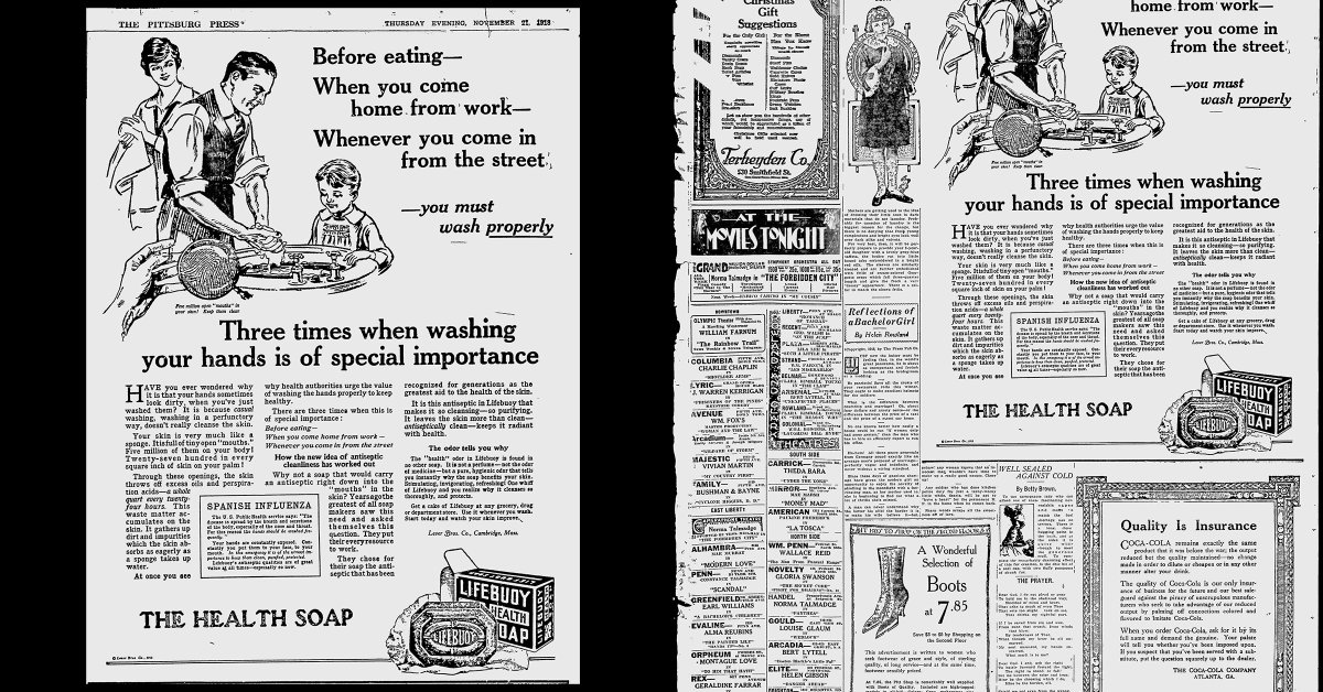 Newspaper Ads From the 1918 Flu Pandemic Show That Some Things Never Change