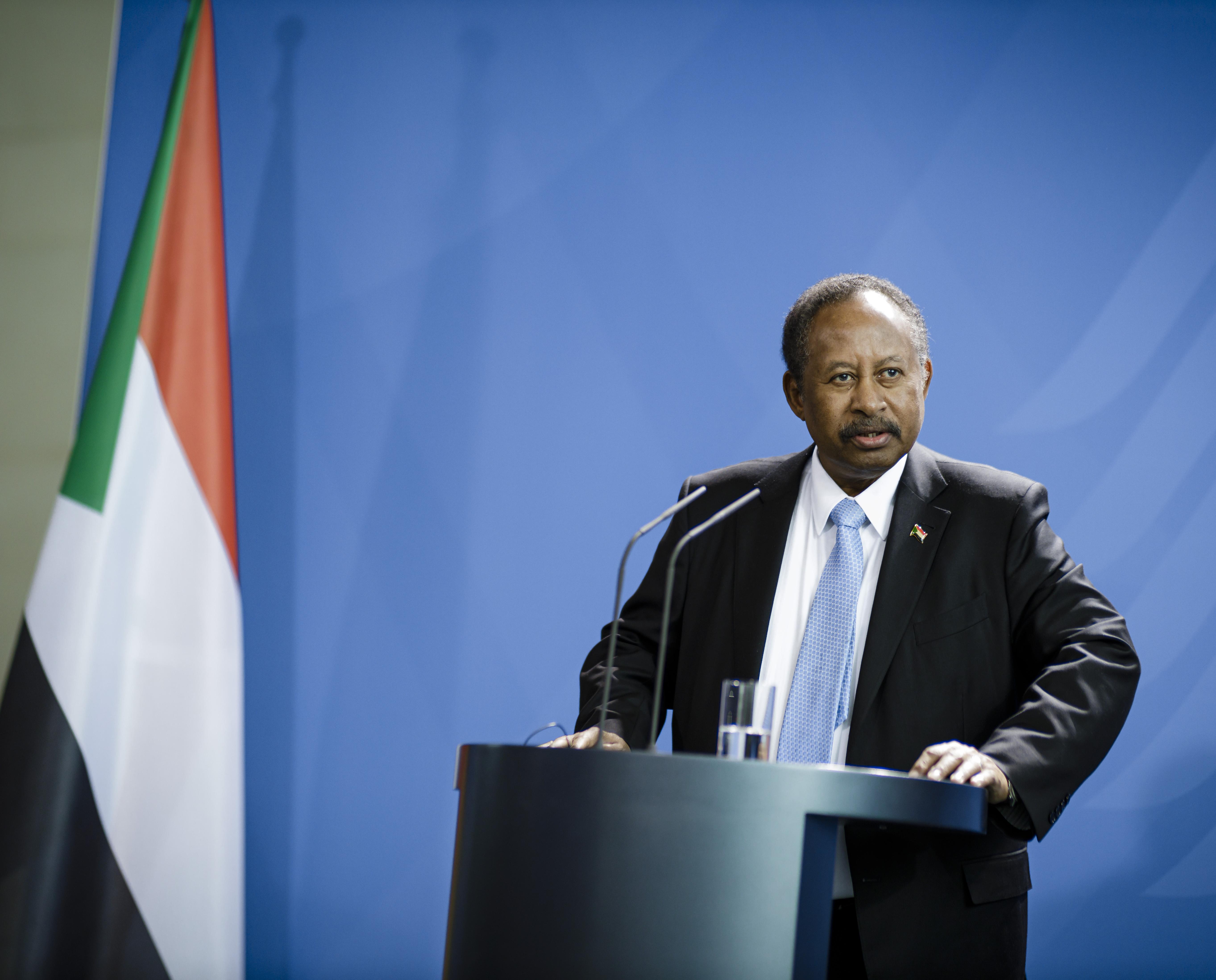 Abdalla Hamdok, Prime Minister of Sudan, at Bundeskanzleramt on Feb. 14, 2020 in Berlin, Germany.