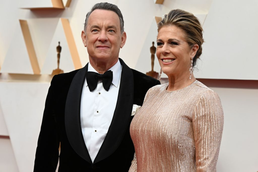 Tom Hanks and wife Rita Wilson arrive for the 92nd Oscars at the Dolby Theatre in Hollywood, California on February 9, 2020.