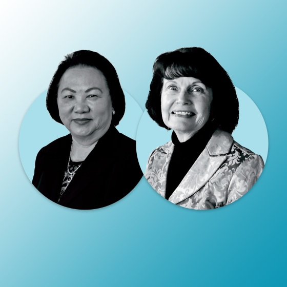 Palee Moua and Marilyn Mochel