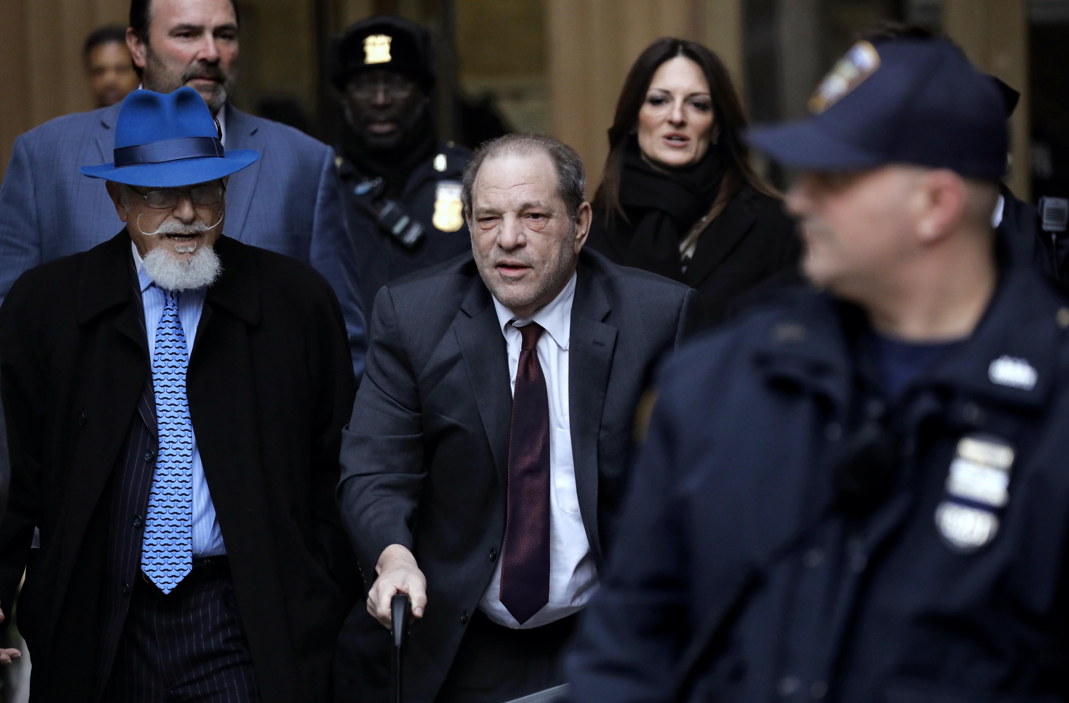 Harvey Weinstein leaves court in New York on Feb. 20, 2020.
