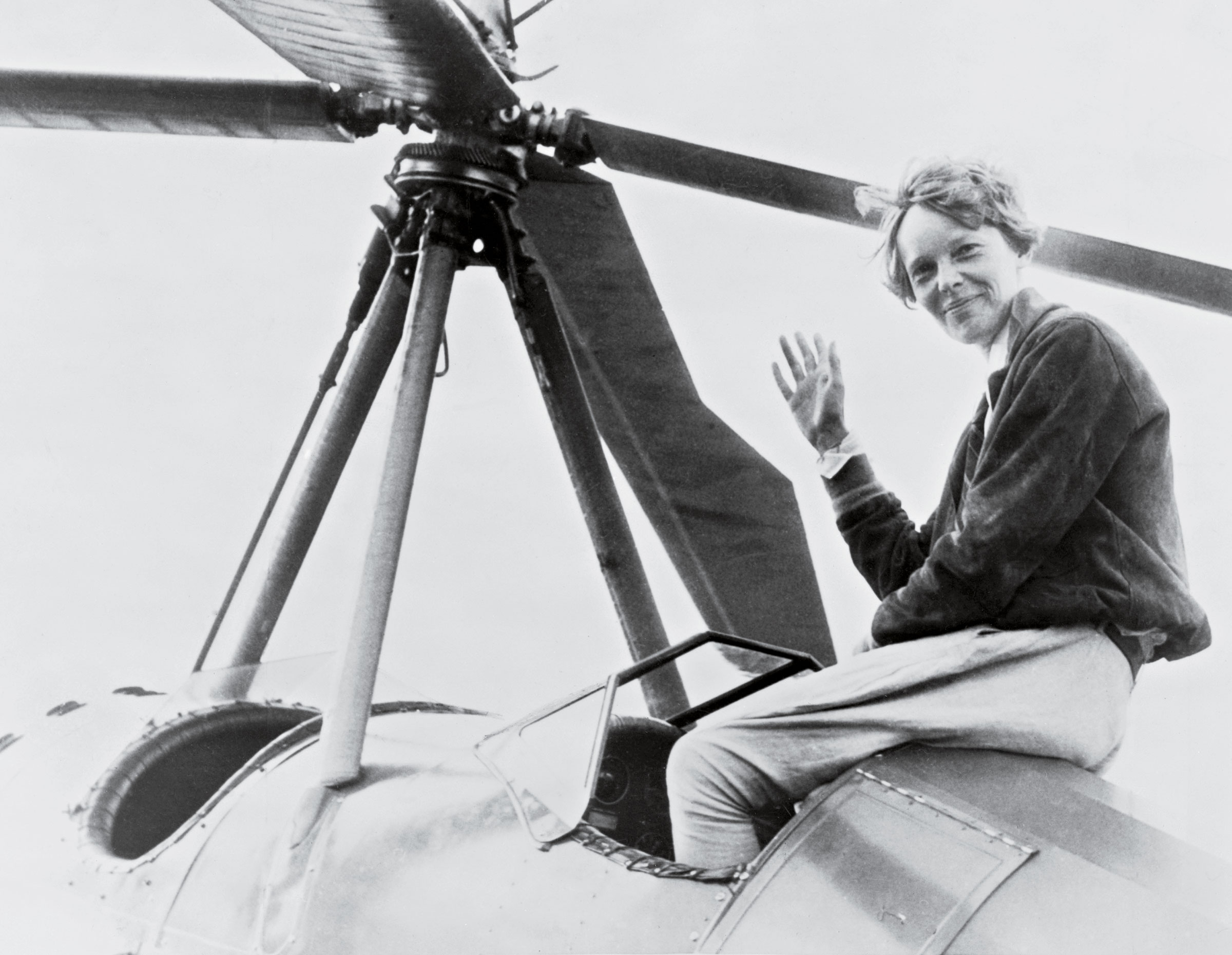 Amelia Earhart shortly after she became the first woman to complete a solo coast-to-coast flight, August 1932.