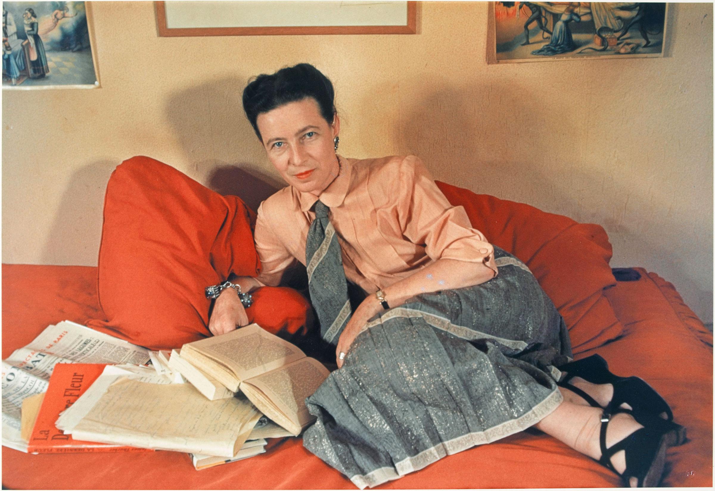 de Beauvoir in Paris in 1948.