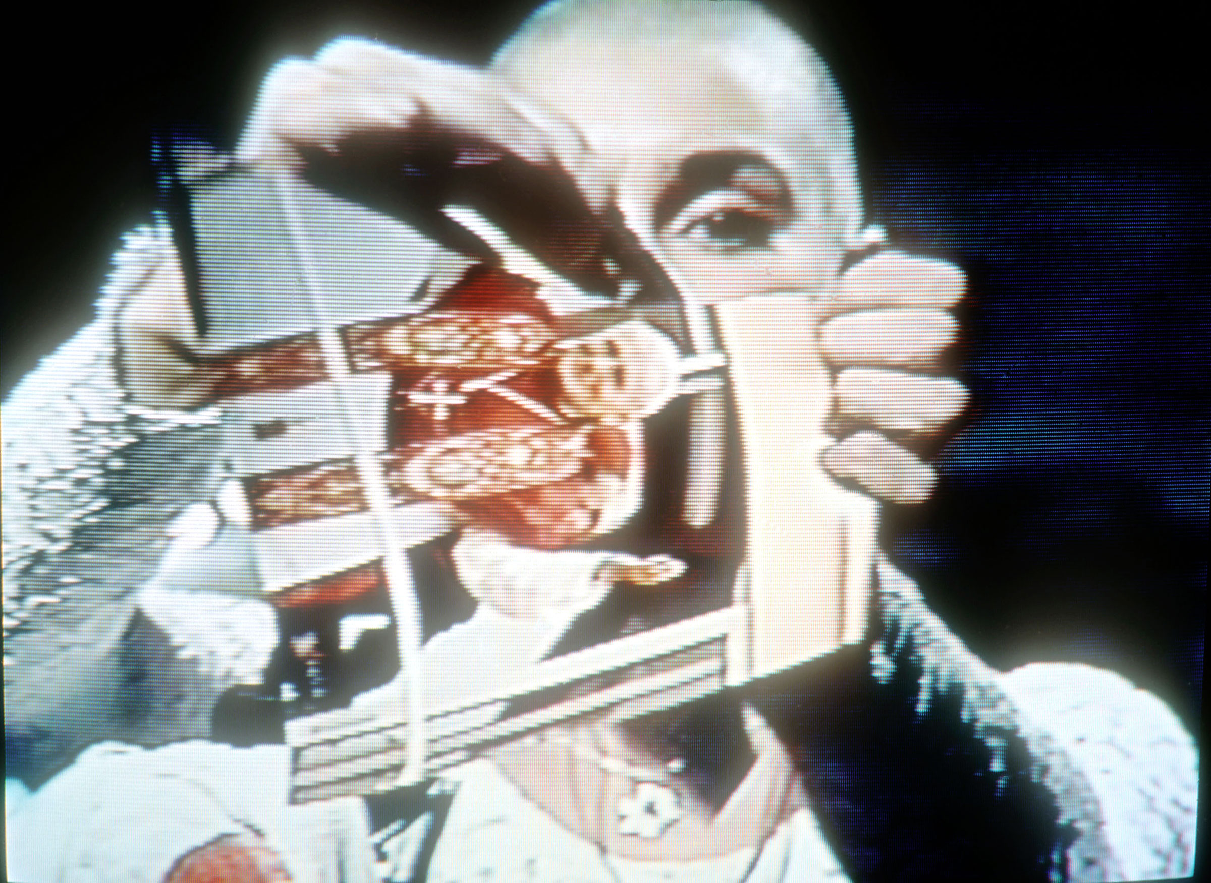 Singer Sinead O'Connor rips up a picture of Pope John Paul II October 3, 1992 on the TV show  Saturday Night Live .