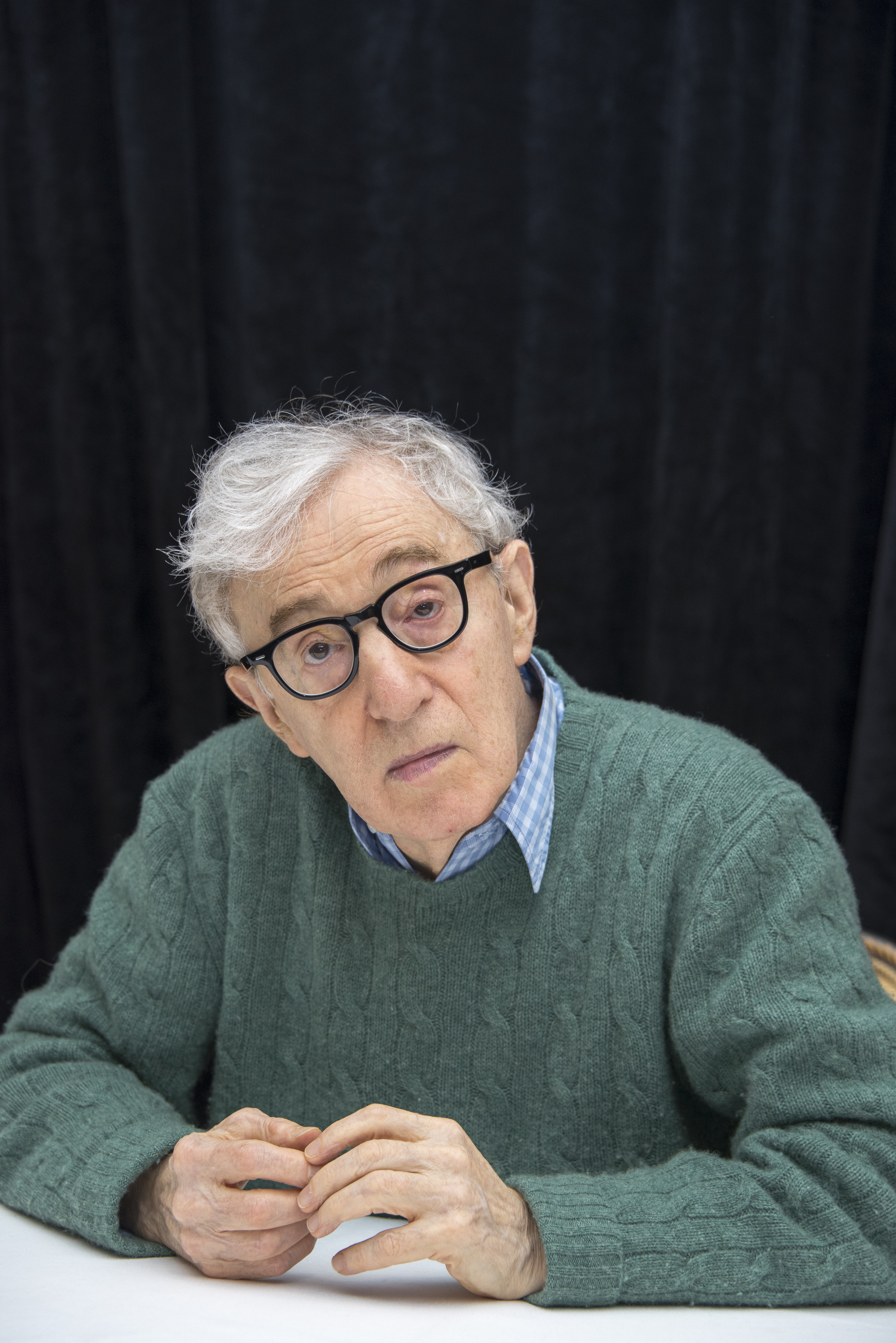 Woody Allen at a  Wonder Wheel  press conference at the Ritz-Carlton Hotel on Oct.14, 2017 in New York City.