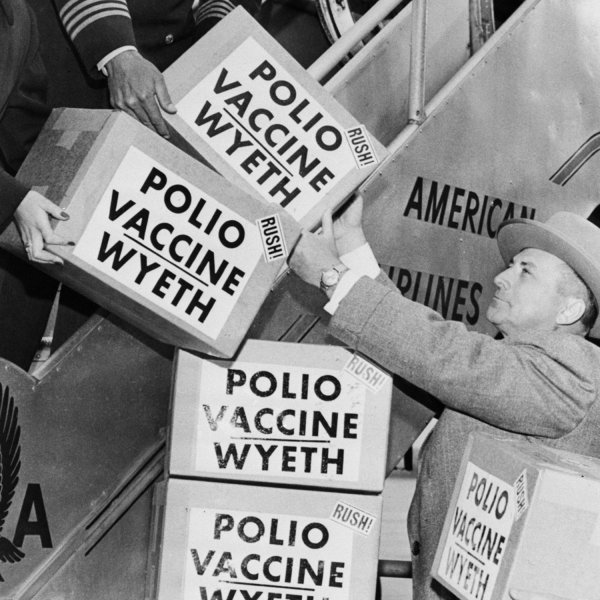 Cooperation in 1955: shipping polio vaccines to Europe