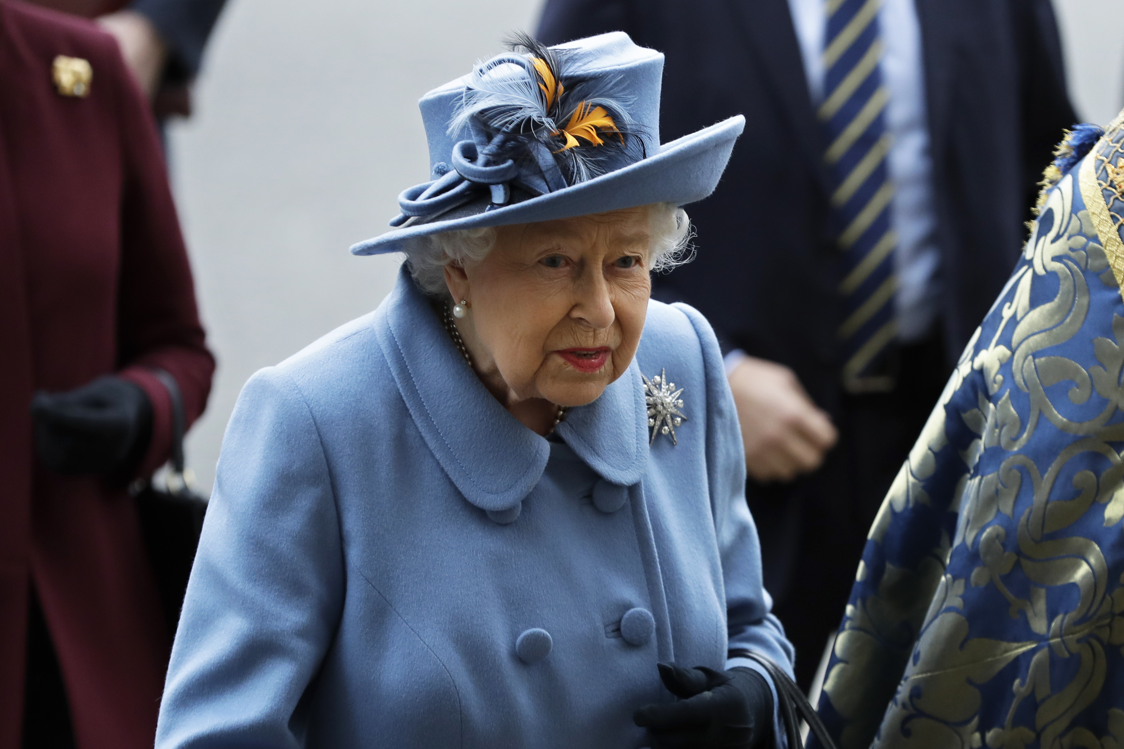 Britain's Queen Elizabeth II arrives to attend the annual Commonwealth Day service at Westminster Abbey in London, on March 9, 2020.