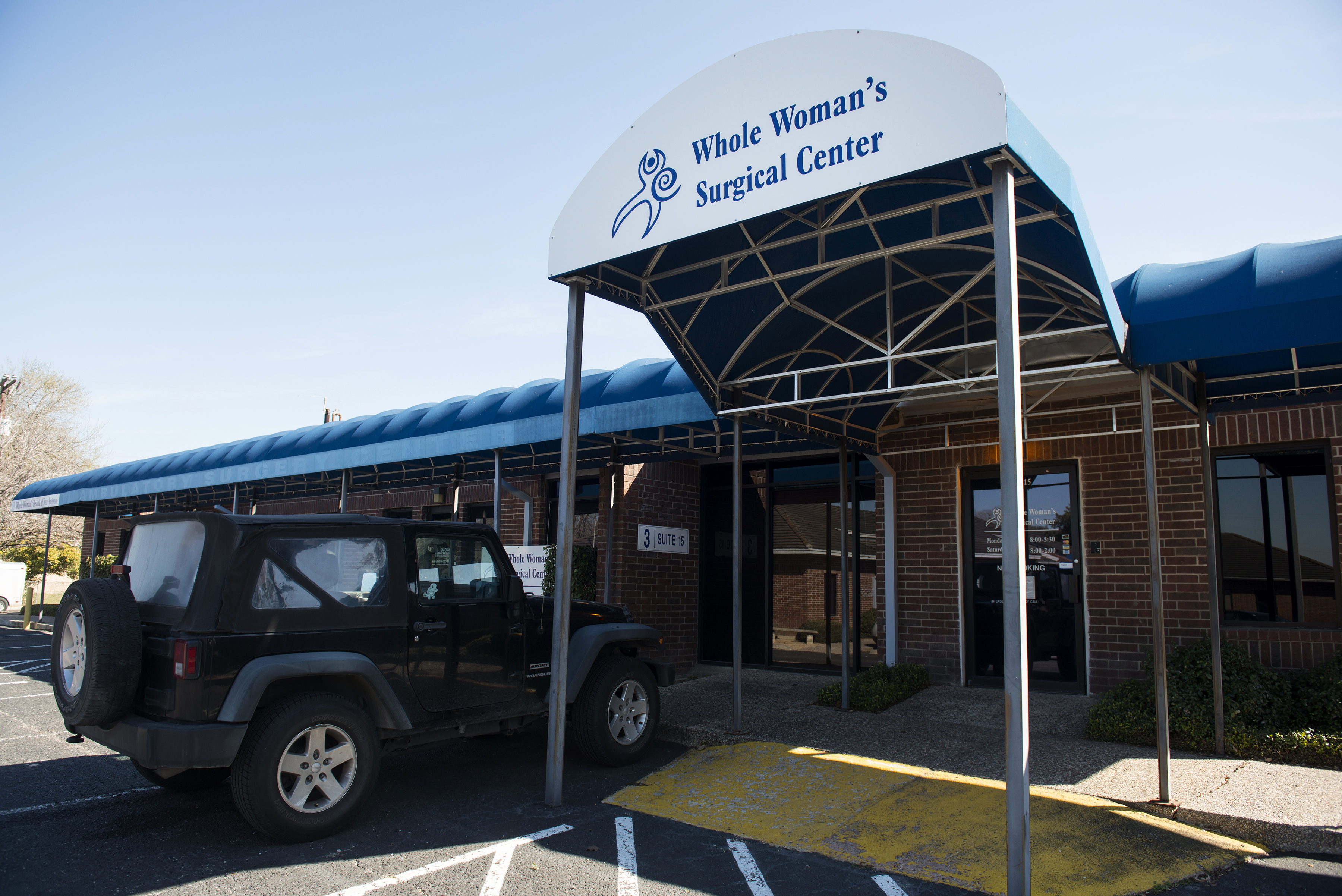 The Whole Woman's Health abortion clinic in San Antonio, Texas, on Feb. 16, 2016.