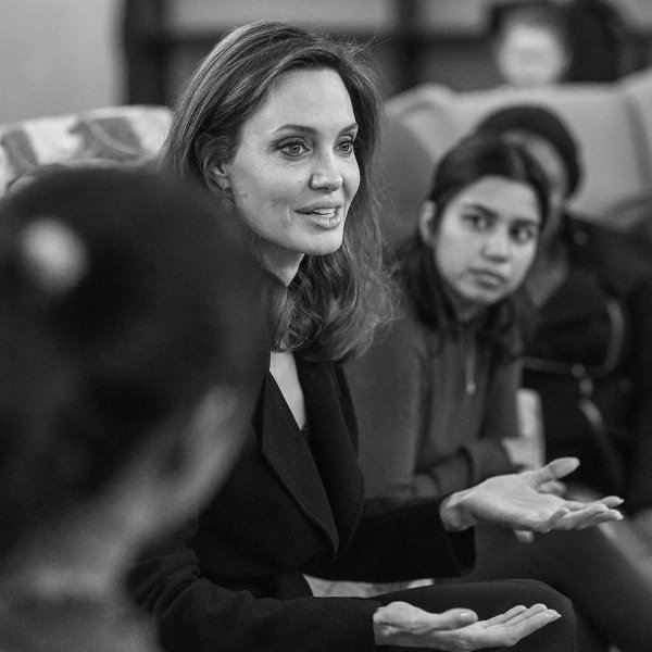 Jolie, pictured in London in November 2018