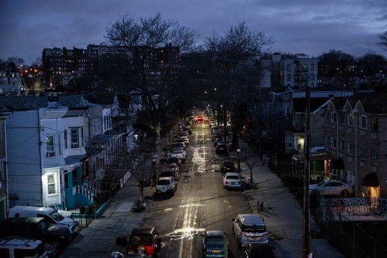 Early morning twilight over Brooklyn on March 24. Mayor DeBlasio declared a state of emergency