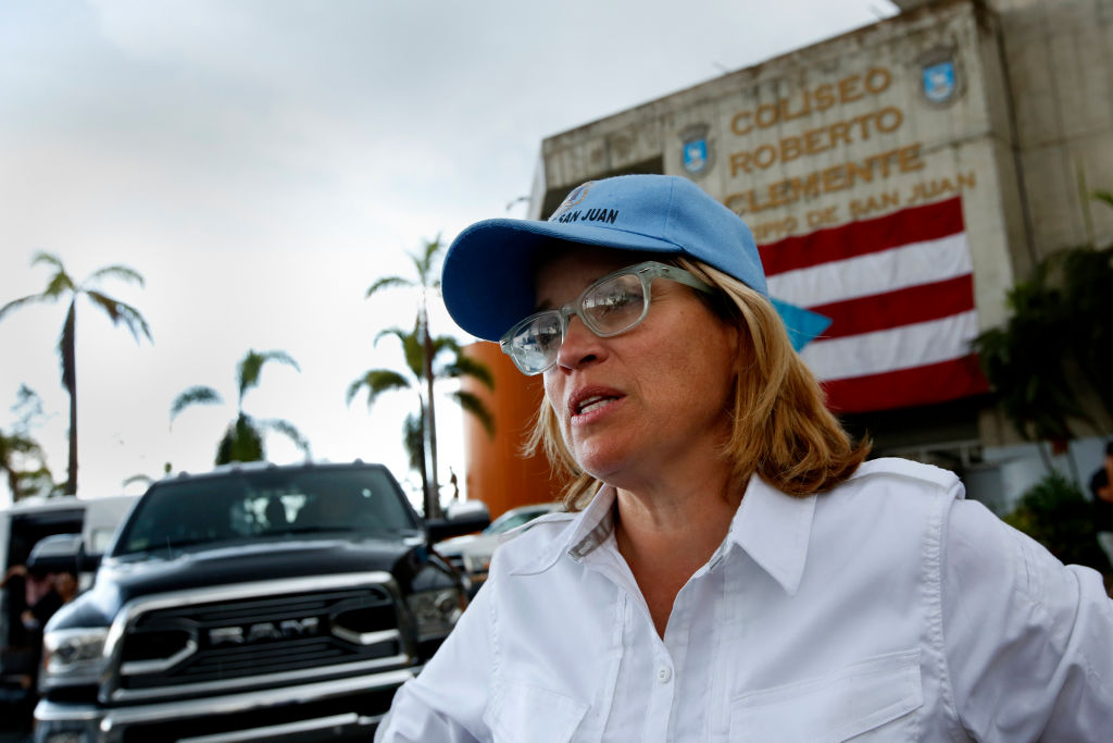 San Juan mayor Carmen Yulin Cruz after Hurricane Maria in 2017.