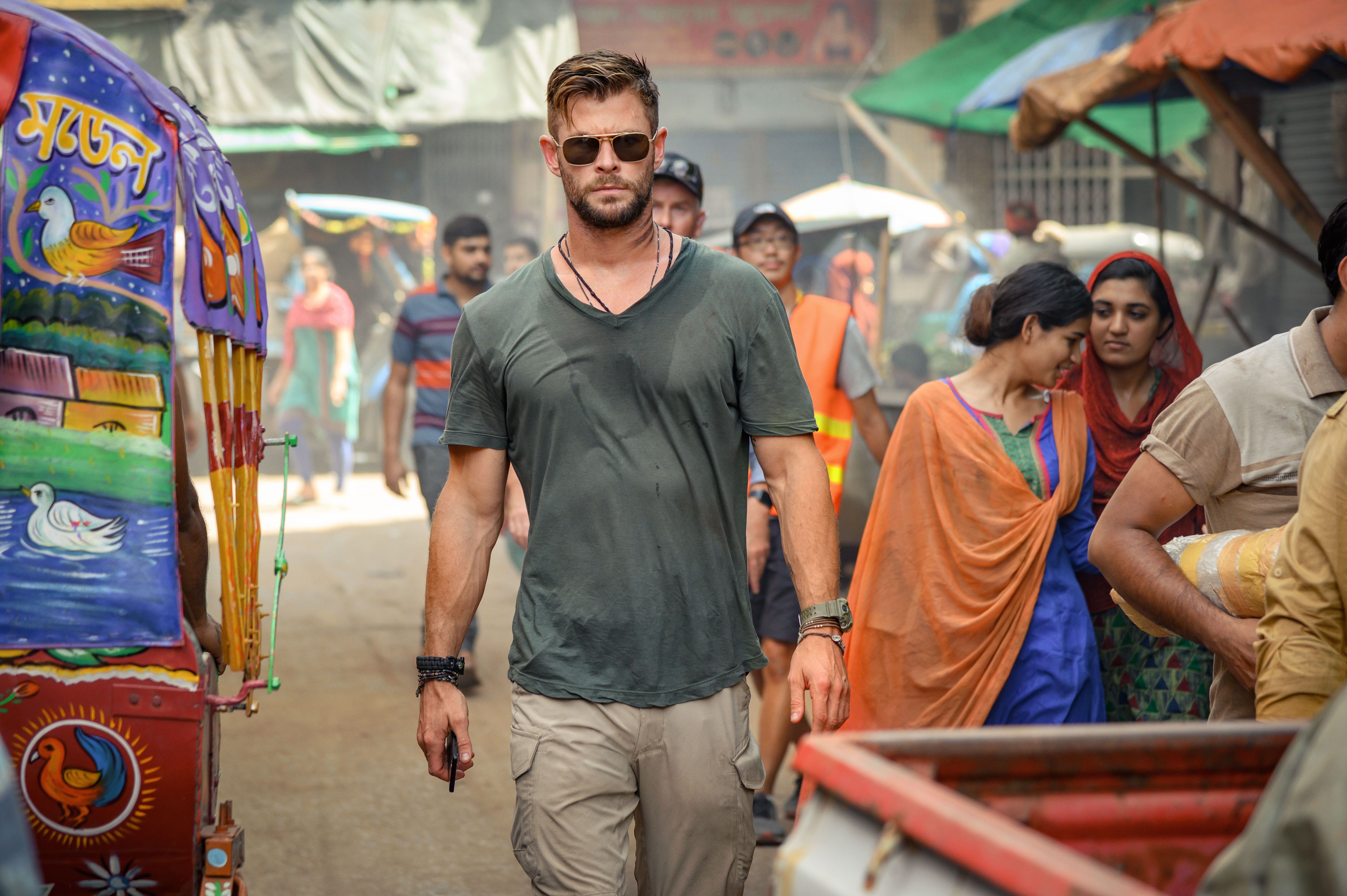 Chris Hemsworth in the Netflix action film 'Extraction'