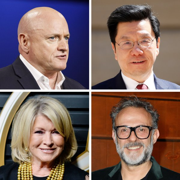 Clockwise from Top Left: Scott Kelly, Kai-Fu Lee, Elise Stefanik, Jason Reynolds, Massimo Bottura, Martha Stewart
