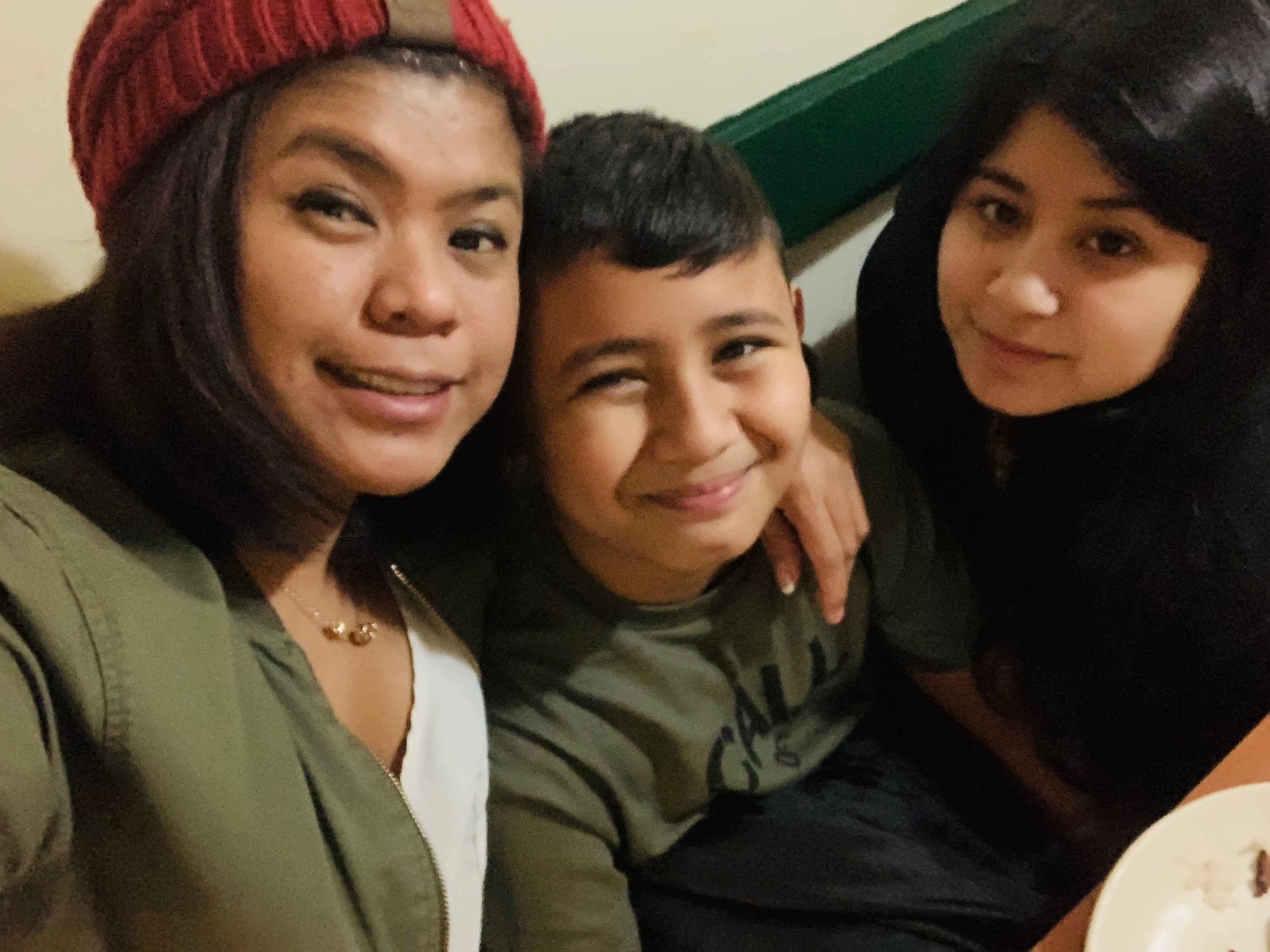 Marianne Ojeda (left), her son, Antonio, and daughter, Jovianne, have been navigating coronavirus challenges together.