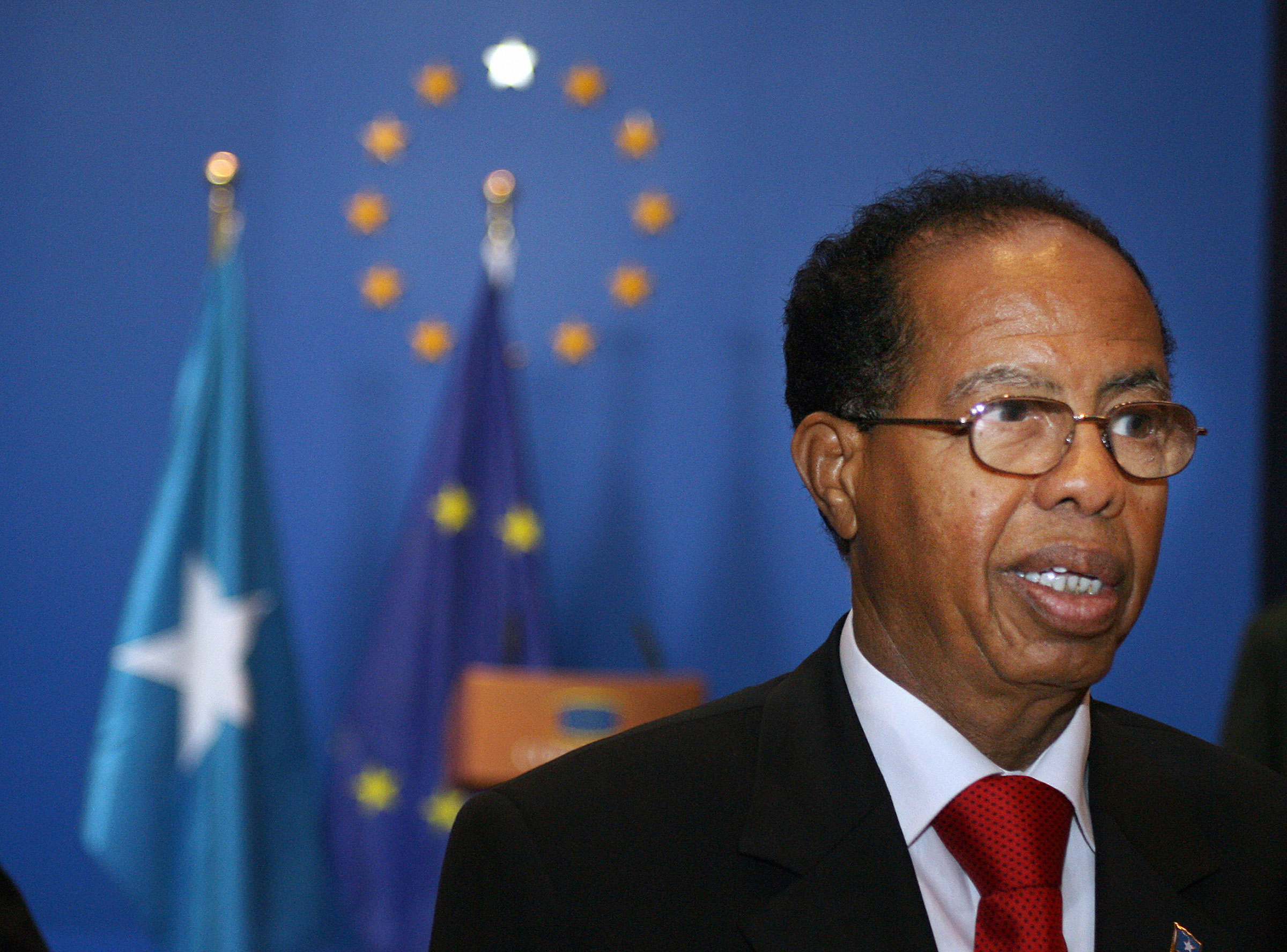 Somalian Prime Minister Nur Hassan Hussein in February 2008