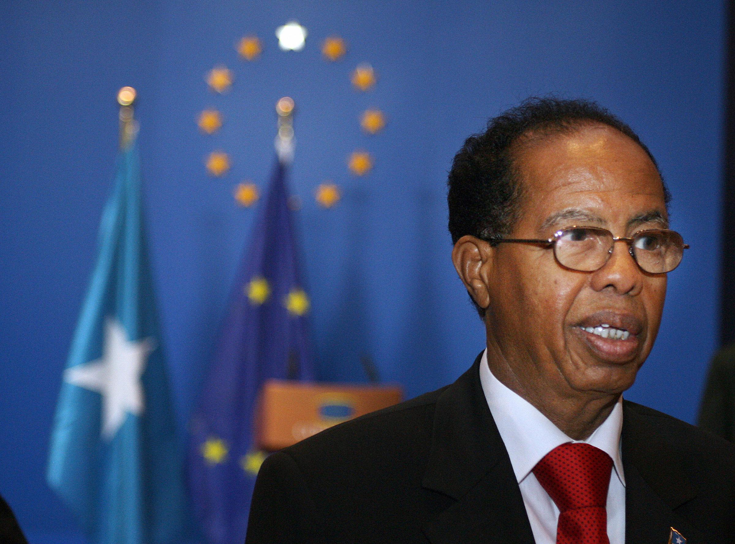 Somalian Prime Minister Nur Hassan Hussein in February 2008
