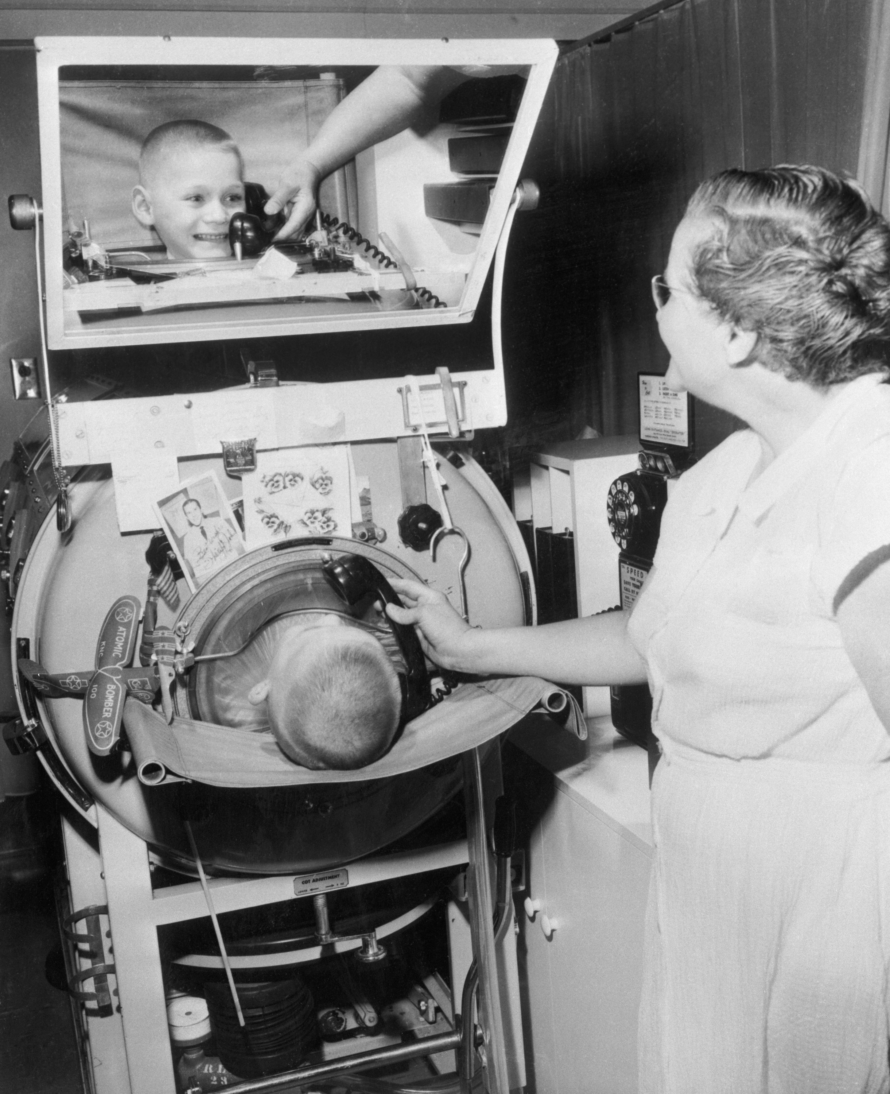 An iron lung was a prison—but a lifesaving one