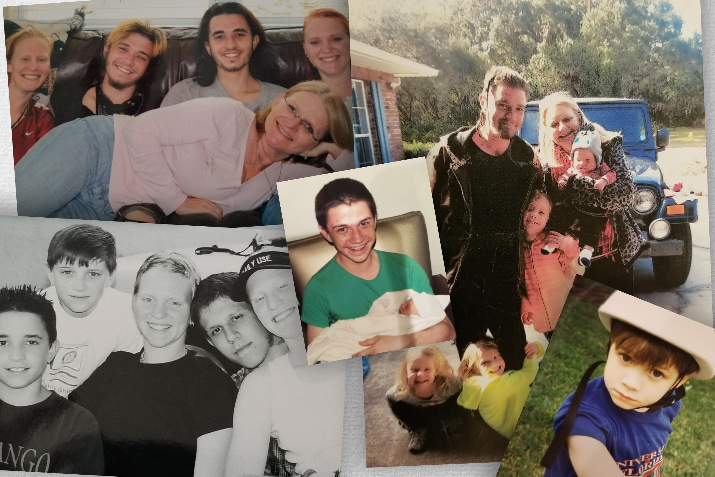 Photos of Robert Mast and his family members.