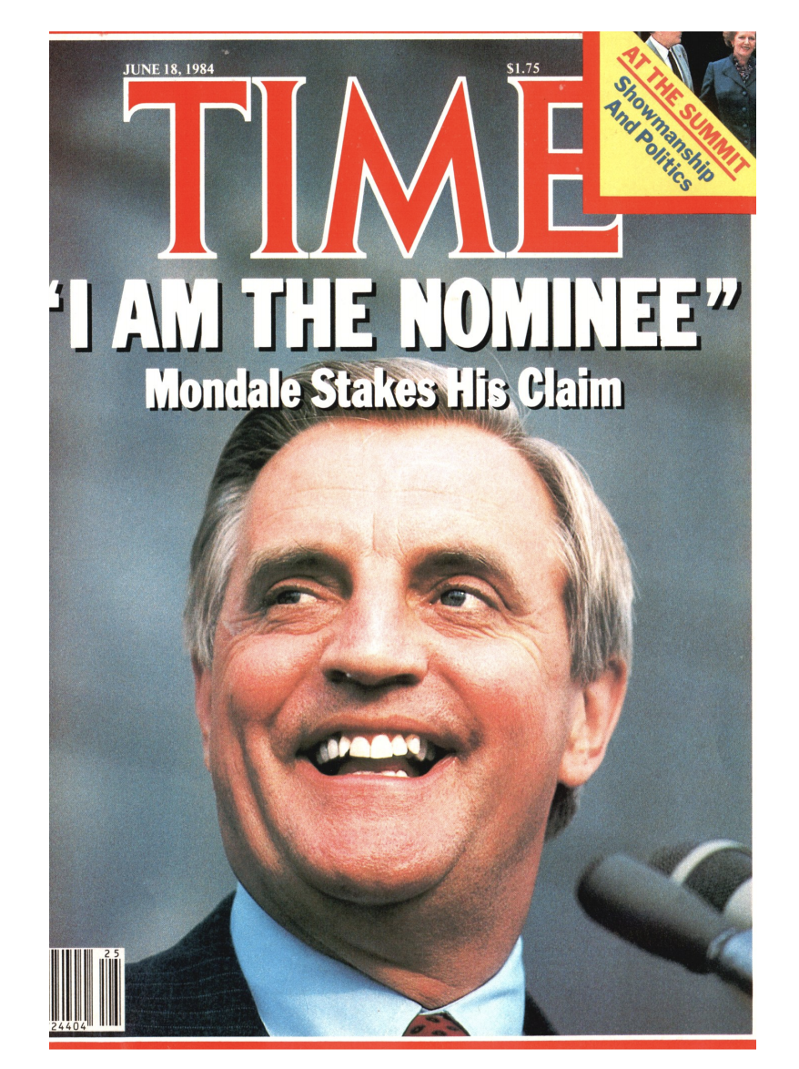 The cover of TIME Magazine the week of June 18, 1984