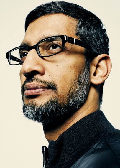 Portrait of CEO of Alphabet Sundar Pichai