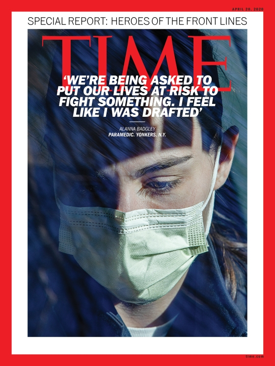 Heroes of the Front Lines Alanna Badgley Time Magazine Cover