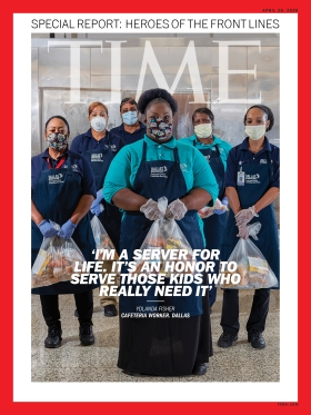 Heroes of the Front Lines Yolanda Fisher Time Magazine Cover