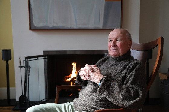 Playwright Terrence McNally in his home